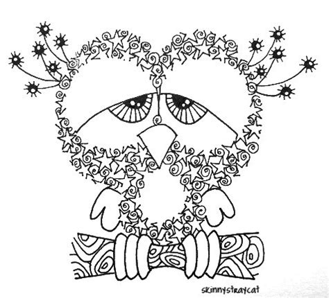 free doodle classes sleepless 3in x 3in ink on paper in zentangle land