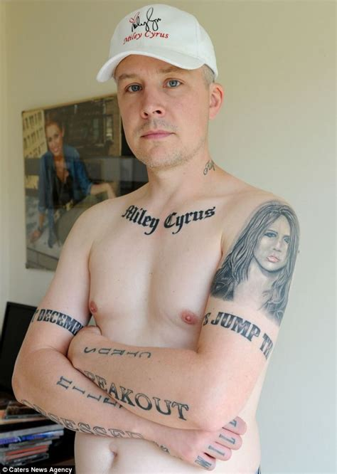 yorkshireman 39 has 15 miley cyrus tattoos inked across