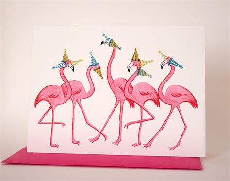 boxing day sale pink flamingo birthday card 5 flamingo
