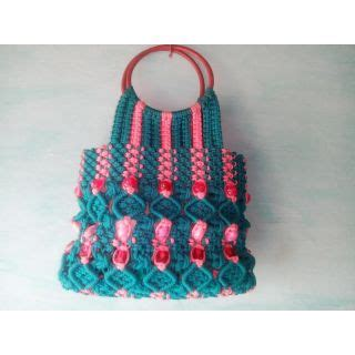 Macrame Thread Bags - handmade macrame thread handbags multicolor at best prices