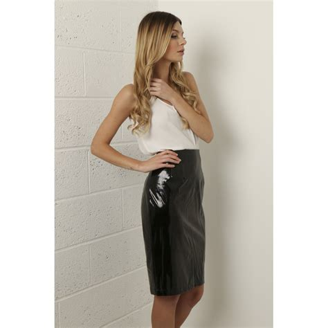 pvc leather skirt dress ala