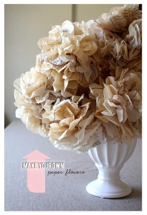 Make Your Own Paper Flowers - diy make your own paper flowers 792711 weddbook