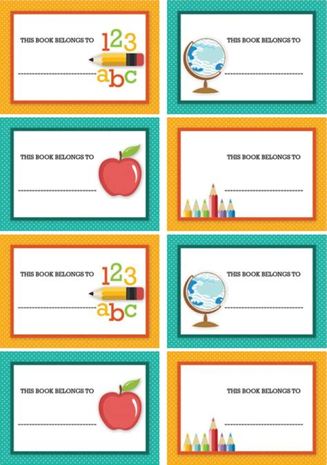 Printable School Tags | free back to school party printables from sarah hope
