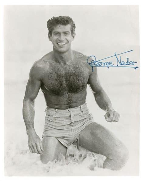 rock hudson shirtless george nader vintage hollywood beefcake pinterest