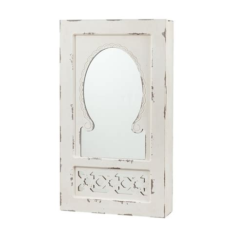 White Wall Mount Jewelry Armoire by Southern Enterprises Wall Mount Jewelry Armoire In Antique