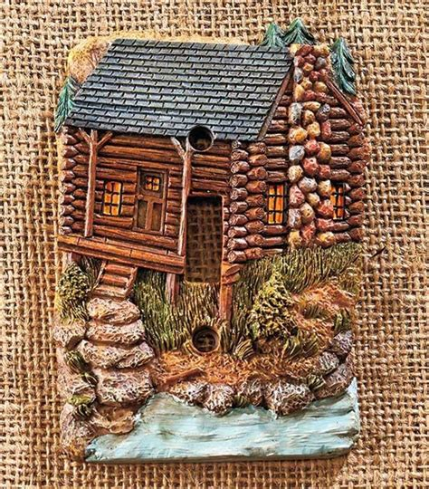 Cabin Outlets by Decorative Rustic Lodge Cabin Themed Light Switch Outlet