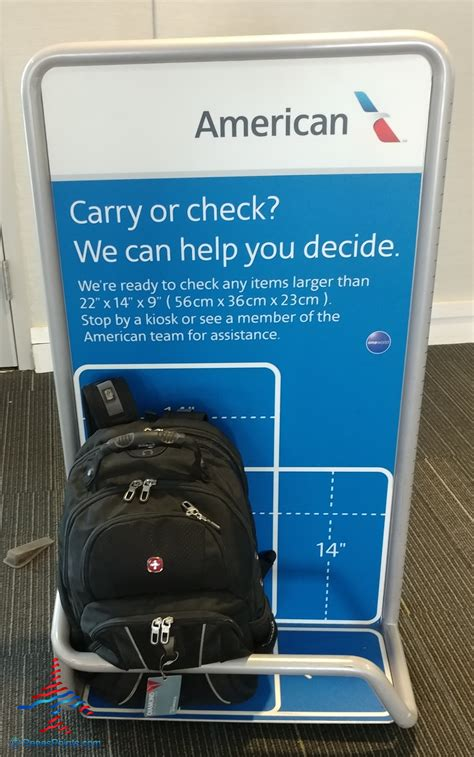 american airlines checked baggage what is the united and american airlines carryon bag check