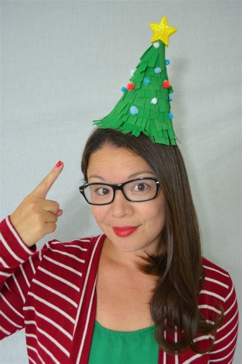 diy christmas tree party hats cozy reverie cozy reverie