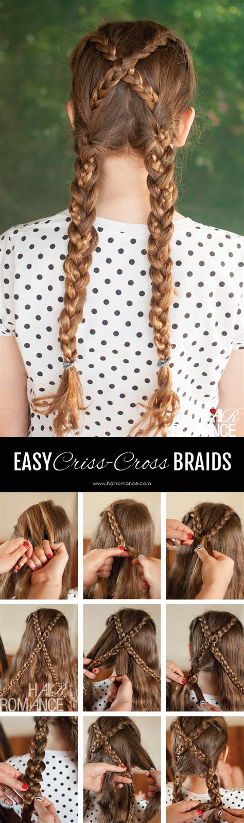 back to school hairstyles australia back to school hairstyles criss cross braids tutorial