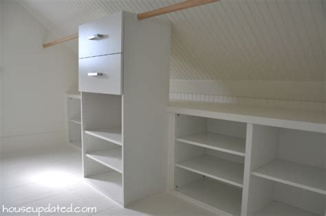 low built ins under sloped ceiling master closet reveal beadboard sloped ceilings kilims