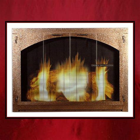 Custom Glass Fireplace Screens by Arched Glass Fireplace Door Northshore