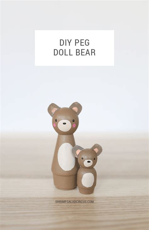 dolls animals diy peg doll animals create your own adorable wooden forest