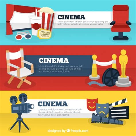 wedding accessories banner cinema banner templates with accessories vector
