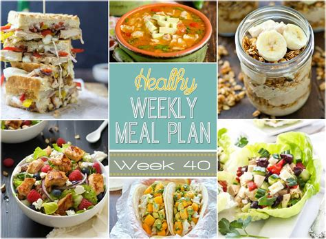 healthy dinner desserts healthy weekly meal plan 40 healthy easy