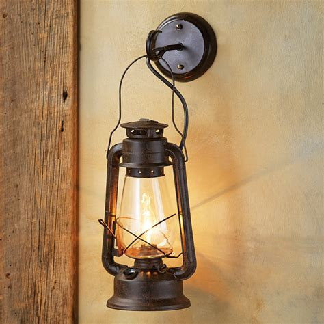 Rustic Sconces large rustic lantern wall sconce