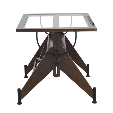 Table Top Drafting Table Studio Designs Aries Glass Top Drafting Table 13310