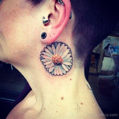 tattoo neck flower daisy flower tattoo