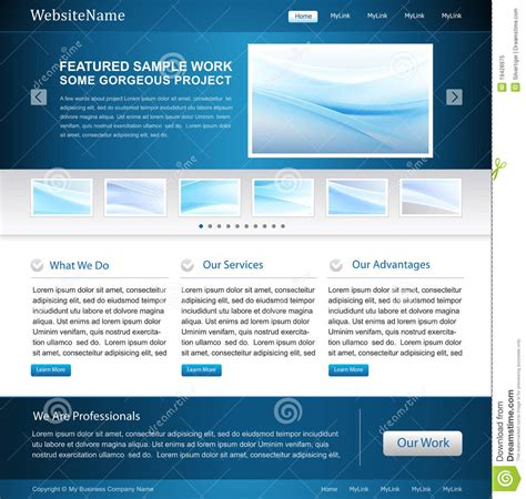 business web design homepage business website design template royalty free stock photo