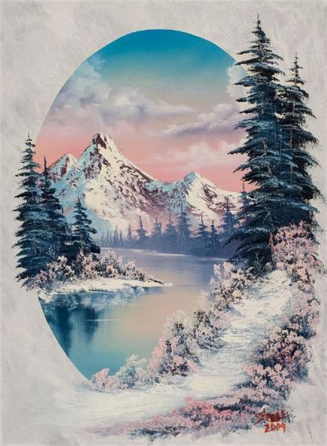 bob ross paintings without trees bob ross winter paradise oval painting landscapes