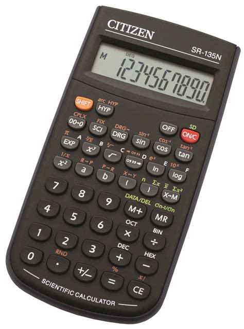 Jual Kalkulator Scientific Citizen by Scientific Calculator Citizen Sr 135n 10 Digit 154x84mm