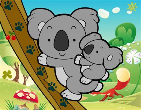 imagenes kawaii de koalas dibujo de mama koalin pintado por luska en dibujos net el