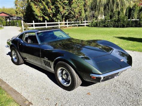 1969 corvette interior 1969 chevrolet corvette stingray 350 4 speed fathom green
