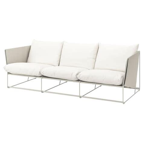Ikea Sofa Return Policy by Havsten 3 Seat Sofa In Outdoor Beige Ikea