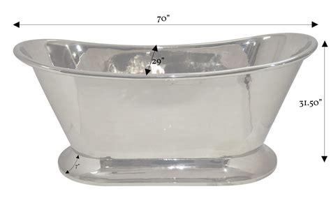 nickel bathtub nickel finish curved pedestal copper bathtub coppersmith