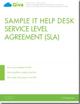 help desk service level agreement template sle it help desk service level agreement sla giva