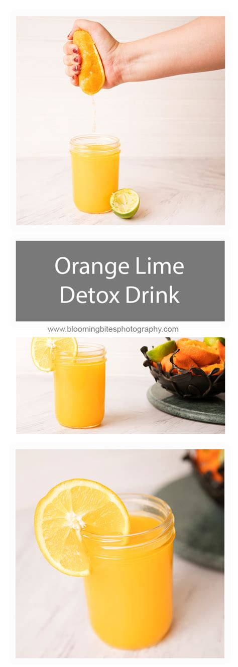 And Lime Detox Drink by Orange And Lime Detox Drink Blooming Bites