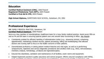 Healthcare Resume Objective Examples Medical Assistant Resume Objective Examples Resume