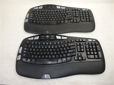 Wireless Keyboard K350 lot of 2 logitech k350 y rbn90 wireless wave ergonomic