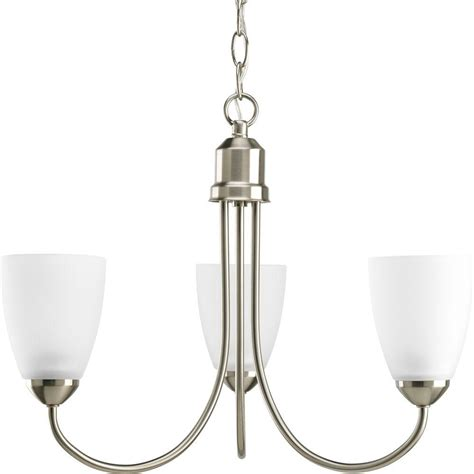progress lighting p5204 38 progress lighting gather collection 3 light brushed nickel