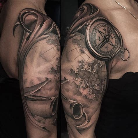 travelling tattoo designs sleeve tattoos best ideas designs