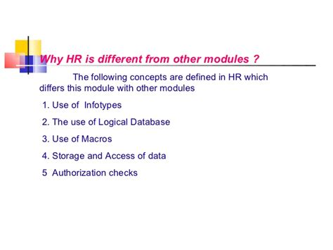 Mba Hr Overview by Sap Hr Overview 58 Slides