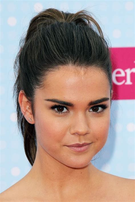 mia mitchell haircut maia mitchell straight dark brown high ponytail ponytail