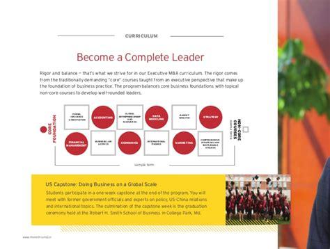 Rhsmith Mba Curriculum by Smith Global Leadership Emba 2016