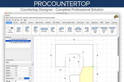 Procountertop Prokitchen Software Countertop Template Software