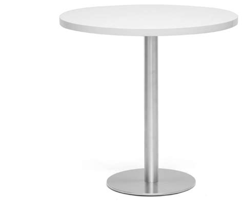 Modern Bistro Table 30 Quot White Modern Bistro Table Contemporary Indoor Pub And Bistro Sets By