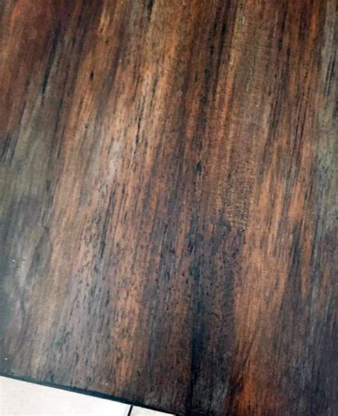 Layered Gel Stained Table   General Finishes Design Center
