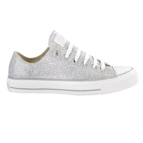 silver converse sneakers converse silver glitter low rise shoes converse silver
