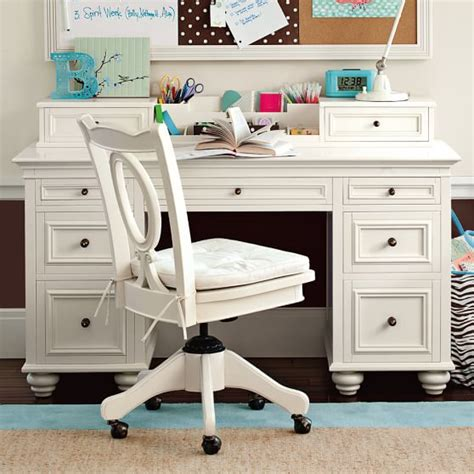 teenage desk chelsea desk hutch pbteen