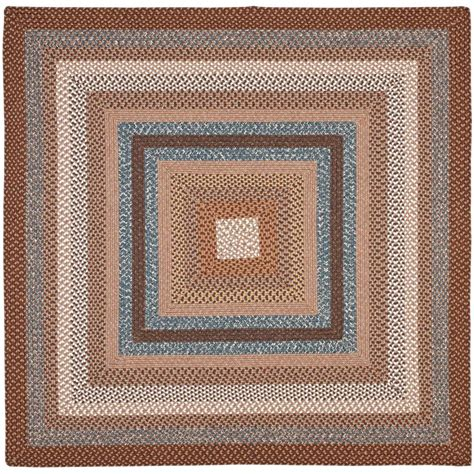 6 x 6 area rug safavieh braided brown multi 6 ft x 6 ft square area rug brd313a 6sq the home depot