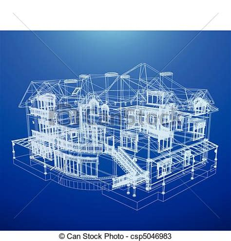 My Cool House Plans vectors of architecture blueprint of a house