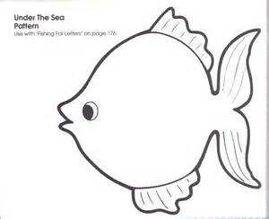 Fish Coloring Template by Preschool Fish Pattern Printable