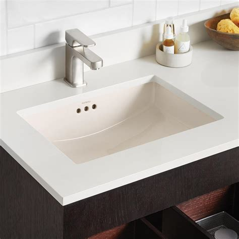 "19"" Essence Rectangular Ceramic Undermount Bathroom Sink"