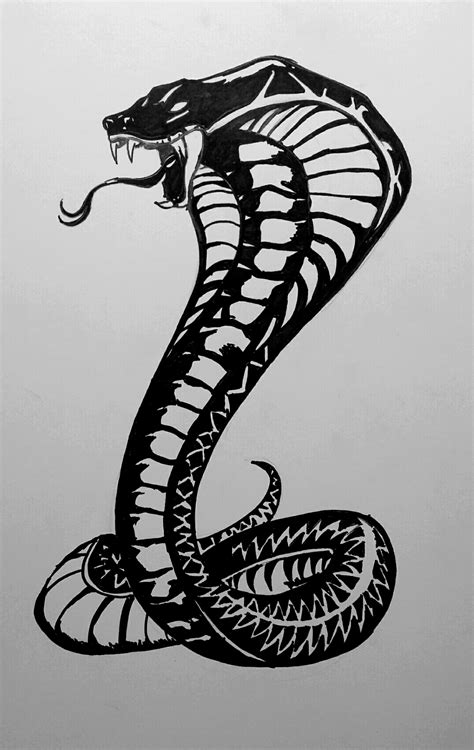 the gallery for gt king cobra drawings