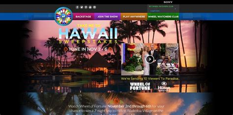Wheel Of Fortune Christmas Giveaway - wheel of fortune take me to hawaii sweepstakes wheeloffortune com
