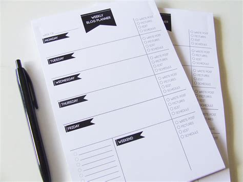 Handmade Planner - weekly planner notepad to do list desk pad undated