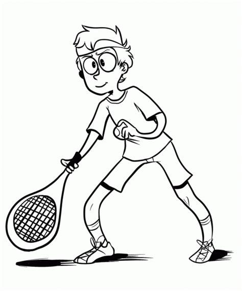 dibujos niños jugando tenis im 225 genes de tenis para colorear tenistas para pintar